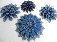 DIY Denim Fabric Flowers – Mum-inspired style