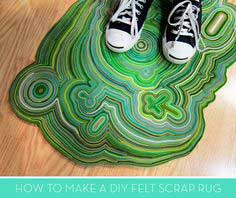 How To: Make a Stunning DIY Rug from Felt Scraps!