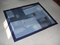 Make your old jeans into a quilt