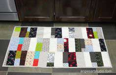 A Scrappy Patchwork Rug for the Kitchen – Another Easy Sewing Project
