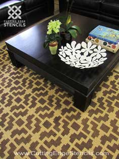 HOME DECOR STENCIL TUTORIAL: DIY DESIGNER RUG!