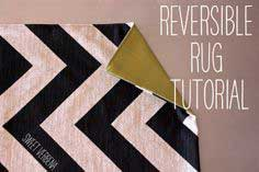Reversible Chevron Rug: a tutorial