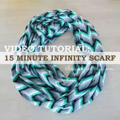 Video Tutorial: Sew a 15 Minute Infinity Scarf