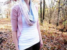 Pink and Lace Infinity Scarf