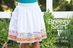 Breezy Skirt, detailed with Lace and Fabric Strips