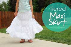 Tiered Maxi Skirt………a great skirt for summer!