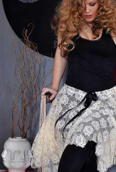 LACE BALLET SKIRT W/ RAW EDGES DIY
