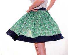 Easy Pleated Skirt - No Pattern Needed