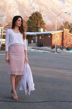 DIY LACE SKIRT WITH SHEER AND METAL ZIPPER (UPCYCLED FROM CURTAINS)