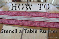 How to Stencil a Table Runner with @plaidcrafts