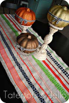 Make an Easy Halloween Ribbon Table Runner!!
