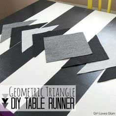 DIY Geometric Triangle Table Runner Tutorial