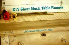 DIY Sheet Music Table Runner {tutorial}