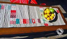 Handmade Holidays ~ Scrappy Festive Table Runner