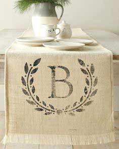 Burlap Table Runner DIY