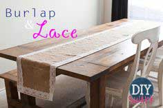 DIY Burlap and Lace Table Runner Tutorial