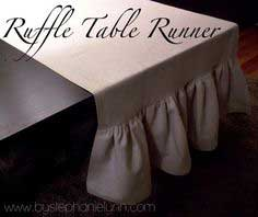 Simple Ruffle Table Runner