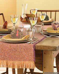 Fringed Tweed Table Runner
