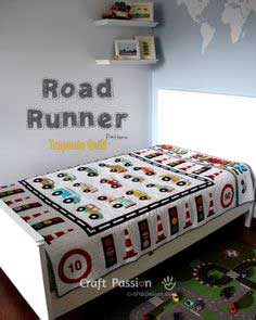 Road Runner Trapunto Quilt Pattern