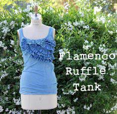 SPRING TOP TUTORIAL: FLAMENCO RUFFLED TANK, SPRING TOP 1