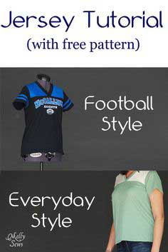 Women's Football Jersey Tutorial with Free Pattern