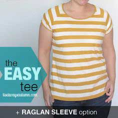the easy tee {raglan sleeve tutorial}
