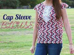 Cap Sleeve Blouse: a tutorial