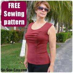 Gathered front top pattern – free sewing pattern