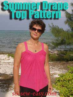Free sewing pattern – Summer Drape Top