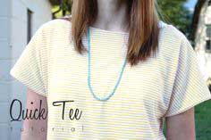 SEWING WITH KNITS MONDAYS: QUICK TEE TUTORIAL