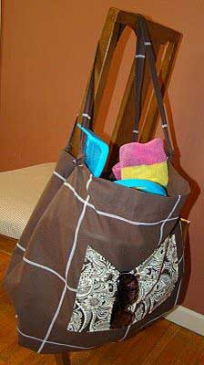 How to make a beach bag from a shower curtain!