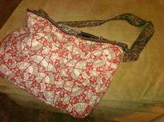 Cute Reversible Rag Quilt Tote Bag