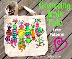 Gossiping Birds Tote-Fun with Neon!