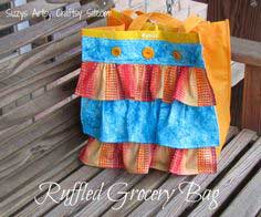Learn to Sew Series- Ruffled Grocery Bag