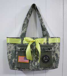 Military Uniform Tote