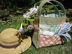 Spring Sewing ~ Quilted Garden Tote