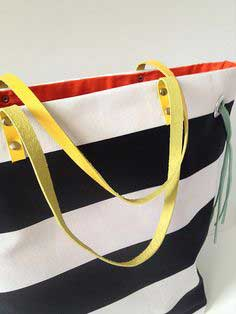 Try This: Stripes + Color Tote Bag