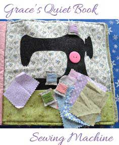 Grace's Quiet Book- Sewing Machine Page