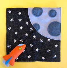 Rocket Ship Quiet Book Pattern