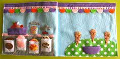 Ice Cream Parlor Quiet Book Page