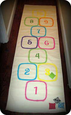 Indoor/Outdoor Hopscotch Mat