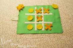Felted Tic Tac Toe To Go Tutorial (to do with kids!)