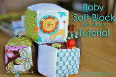 Baby Soft Block with Ribbon Tutorial