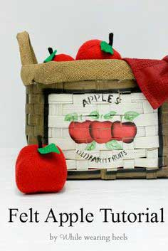 I Heart Fake Food - Felt Apple Tutorial