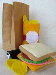 Felt Brown Bag Lunch Tutorial