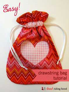 Made by Me Monday – Easy Drawstring Bag {tutorial}