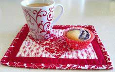 Tutorial: Valentine's Mug Rug (Go! Ahead and Show a Little Love blog hop)