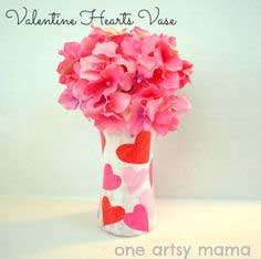 Easy Valentine Heart Vase