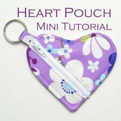Heart Shaped Pouch Mini-Tutorial
