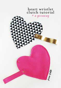 HEART CLUTCH TUTORIAL + GIVEAWAY